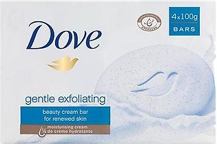 Dove Gentle Exfoliating Bar Soap 100g (Imported)