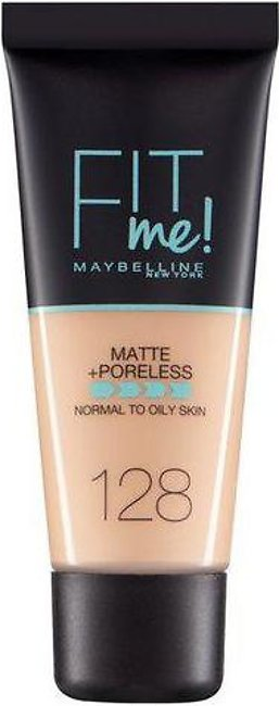 Maybelline Fit Me Matte & Poreless Foundation 128 Warm Nude