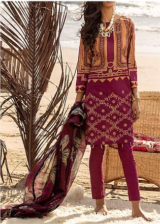 Salitex Embroidered Lawn Unstitched 3 Piece Suit ST20ET 495A - Spring / Summe...