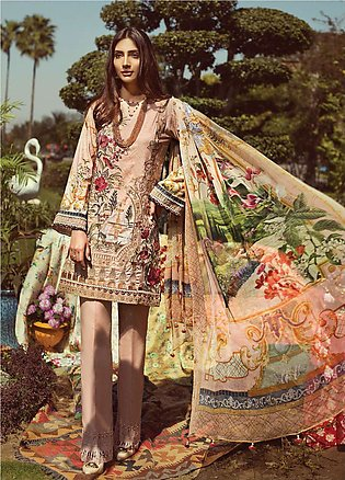 Jazmin by Baroque Embroidered Lawn Unstitched 3 Piece Suit JZ19L 06 TROPICAL ...