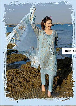 Five Star Printed Lawn Unstitched 3 Piece Suit FS20C 1015C - Spring / Summer ...