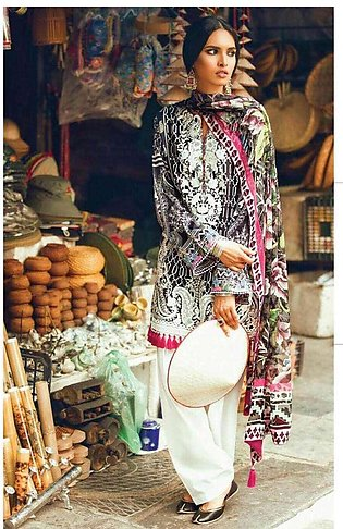 Zara Shahjahan Embroidered Lawn Unstitched 3 Piece Suit ZS17L Kanwal