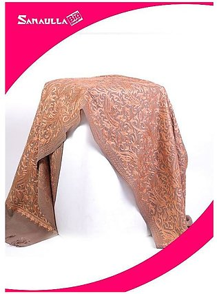 Fawn Embroidered Pashmina Shawls for women - SW 216