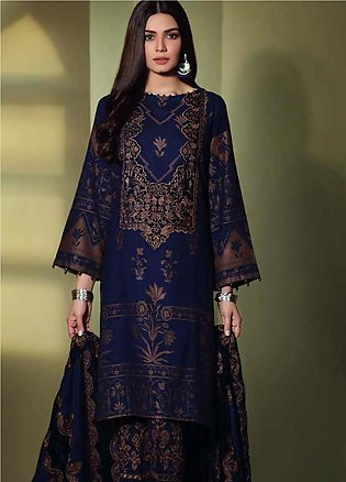 Charizma Embroidered Jacquard Unstitched 3 Piece Suit CRZ19W 05 - Winter Coll...