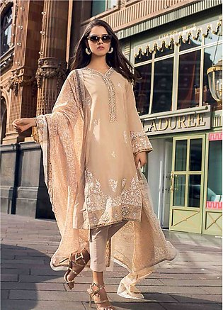 Gul Ahmed Embroidered Jacquard Unstitched 3 Piece Suit GA19E FE-233 - Eid Col...