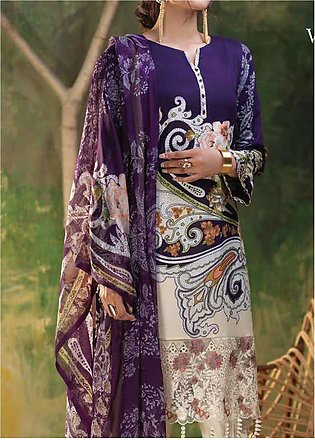 Salitex Embroidered Lawn Unstitched 3 Piece Suit ST19ZL 314B - Summer Collection