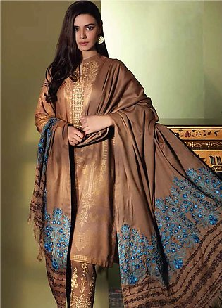 Charizma Embroidered Jacquard Unstitched 3 Piece Suit CRZ19W 06 - Winter Coll...