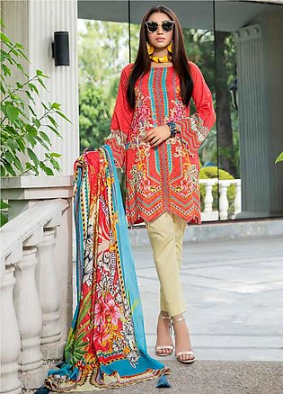 Umang by Motifz Embroidered Lawn Unstitched 3 Piece Suit UMT20L 2554 Rasberry -…