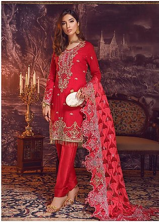 Areej By A-Meenah Embroidered Cotton Unstitched 3 Piece Suit AME19C 10 Fiiza ...