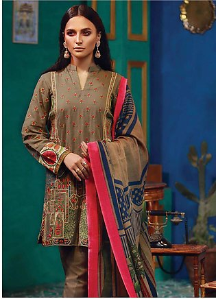 RajBari Embroidered Khaddar Unstitched 3 Piece Suit RB18K 5A - Winter Collection