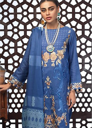 Salitex Embroidered Jacquard Unstitched 3 Piece Suit ST19E 307 - Festive Coll...