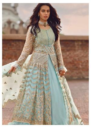Shahnameh by Qalamkar Embroidered Zari Net Unstitched 3 Piece Suit QLM19SH 04 - Luxury Collection