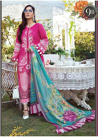 Mprints by Maria B Printed Lawn Suits Unstitched 3 Piece MB21MP 9B - Summer Col…