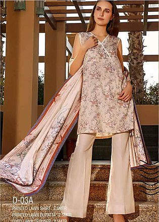 Ittehad Textiles Printed Lawn Unstitched 3 Piece Suit ITD20CS 03A - Summer Co...