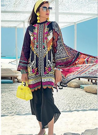 Zainab Chottani Embroidered Lawn Unstitched 3 Piece Suit ZC20LL 4A - Luxury C...