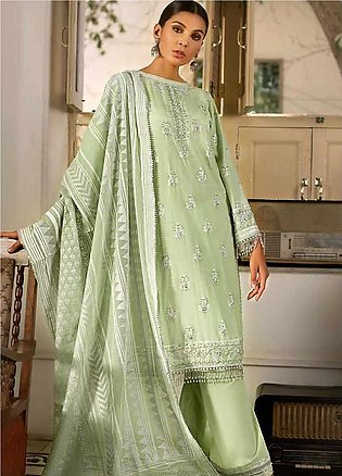Gul Ahmed Embroidered Cotton Silk Unstitched 3 Piece Suit GAF19CS EA-97 - Fes...