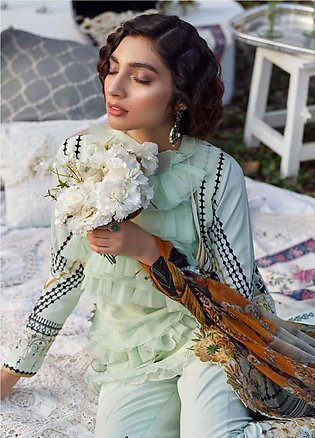 Asifa & Nabeel Embroidered Lawn Unstitched 3 Piece Suit AN20L Urban Bloom - S...