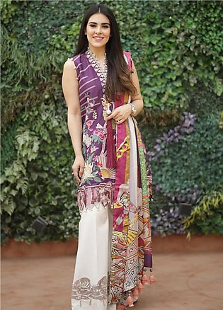 Crimson Embroidered Lawn Unstitched 3 Piece Suit CRM19L 2B - Spring / Summer ...
