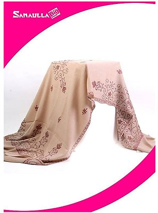 Beige Embroidered Pashmina Shawls for women - SW 255