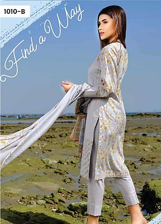 Five Star Printed Lawn Unstitched 3 Piece Suit FS20C 1010B - Spring / Summer ...