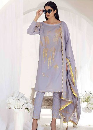 Gul Ahmed Embroidered Lawn Unstitched 3 Piece Suit GA19E FE-191 A - Eid Colle...