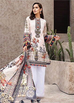 IRIS by Jazmin Embroidered Lawn Unstitched 3 Piece Suit JZ20I 3 - Summer Coll...