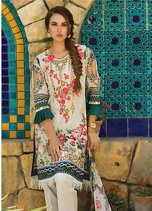Nadia Hussain Embroidered Lawn Unstitched 3 Piece Suit NH19L 04 - Spring / Su...