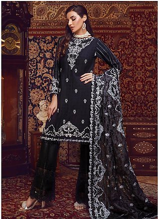 Areej By A-Meenah Embroidered Cotton Unstitched 3 Piece Suit AME19C 01 Taabis...