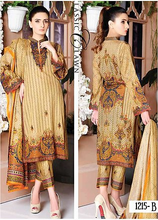 Five Star Printed Lawn Unstitched 3 Piece Suit FS20CL-1 1215B - Spring / Summ...