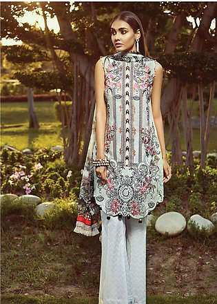 Jazmin by Baroque Embroidered Lawn Unstitched 3 Piece Suit JZ19L 04 URBAN SOU...