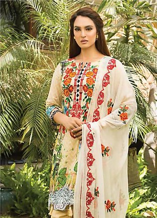 Nadia Hussain Embroidered Lawn Unstitched 3 Piece Suit NH19L 01 - Spring / Su...
