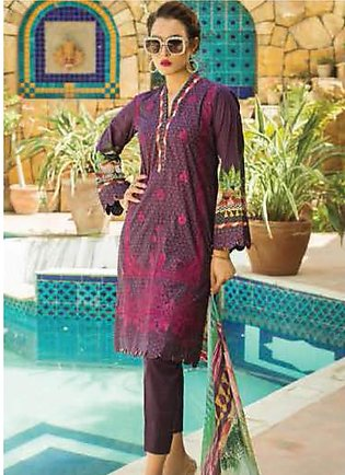 Nadia Hussain Embroidered Lawn Unstitched 3 Piece Suit NH19L 08 - Spring / Su...