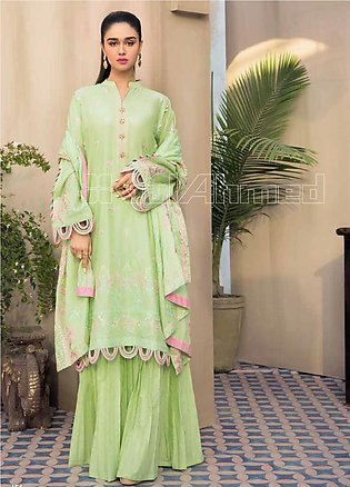 Gul Ahmed Embroidered Jacquard Unstitched 3 Piece Suit GA20PL PM-365 - Spring /…