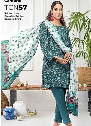 Gul Ahmed Printed Cambric Unstitched 2 Piece Suit GA20CM TCN-57 - Summer Collec…