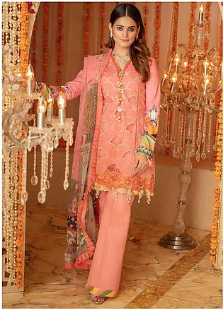 Zinnia by Rang Rasiya Embroidered Lawn Unstitched 3 Piece Suit ZRR20F 60029 A...