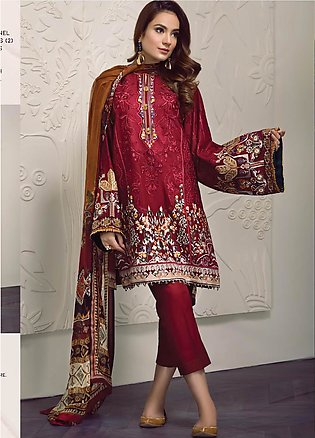 Baroque Embroidered Lawn Unstitched 3 Piece Suit BQ19-S2 06 PEYTON - Mid Summ...