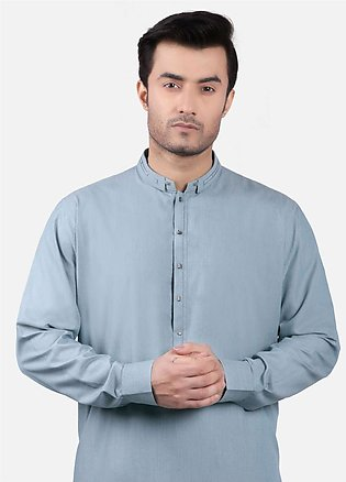 Edenrobe Cotton Formal Men Kurta Shalwar - Sea Green EMTSW19S-9750