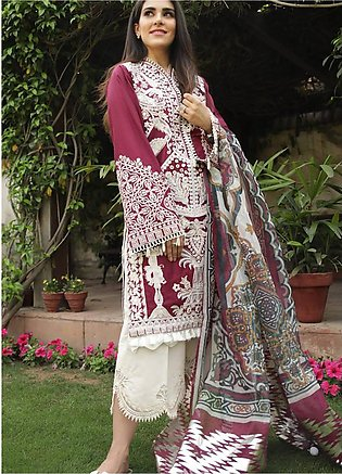 Crimson Embroidered Lawn Unstitched 3 Piece Suit CRM19L 7B - Spring / Summer ...