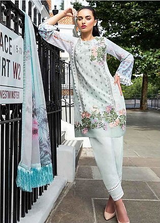 Sobia Nazir Embroidered Lawn Unstitched 3 Piece Suit SN20L 2A - Summer Collec...