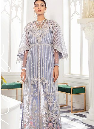Freesia by Suffuse Embroidered Net Unstitched 3 Piece Suit FRS19W Royal Lilac...