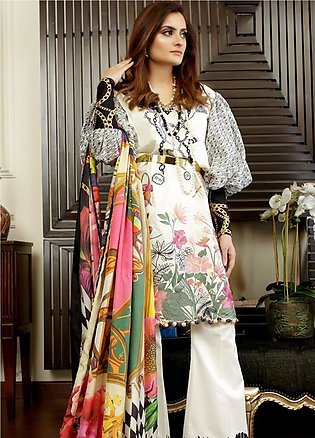 Crimson Embroidered Lawn Unstitched 3 Piece Suit CRM19L 9A - Spring / Summer ...