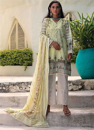 Qalamkar Embroidered Lawn Unstitched 3 Piece Suit QLM20L 15 - Luxury Collection