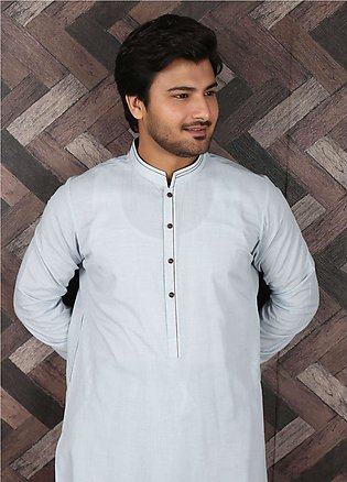 Aizaz Zafar Wash N Wear Formal Shalwar Kameez for Men - 685 Sky Blue