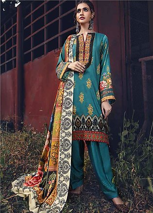 Umang by Motifz Embroidered Linen Unstitched 3 Piece Suit MT20UW 2625 Pine - Wi…