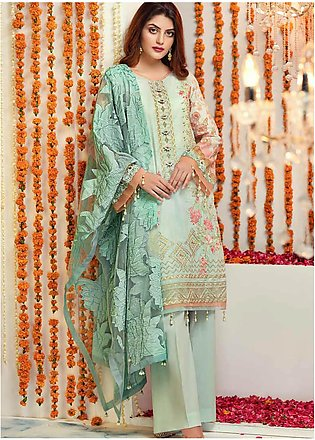 Zinnia by Rang Rasiya Embroidered Lawn Unstitched 3 Piece Suit ZRR20F 60027 A...