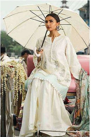 Zara Shahjahan Embroidered Lawn Unstitched 3 Piece Suit ZS17E2 Champa Kali
