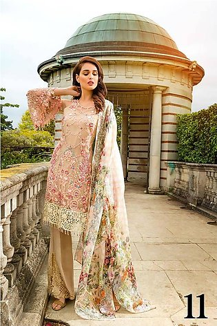 Sobia Nazir Embroidered Chiffon Unstitched 3 Piece Suit SN17E 11