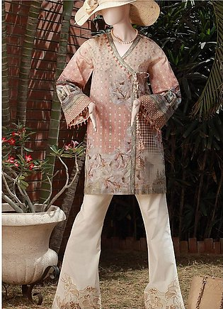 Saya Embroidered Lawn Unstitched 3 Piece Suit SY18F 5B - Festive Collection