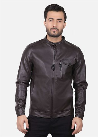Furor Leather Casual Men Jackets - Brown 039055