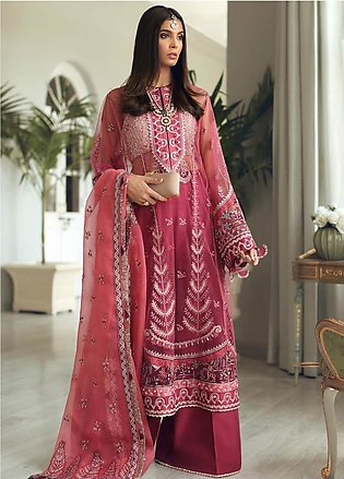 Elan Embroidered Poly Net Unstitched 3 Piece Suit EL19C 02 GUL - Luxury Colle...